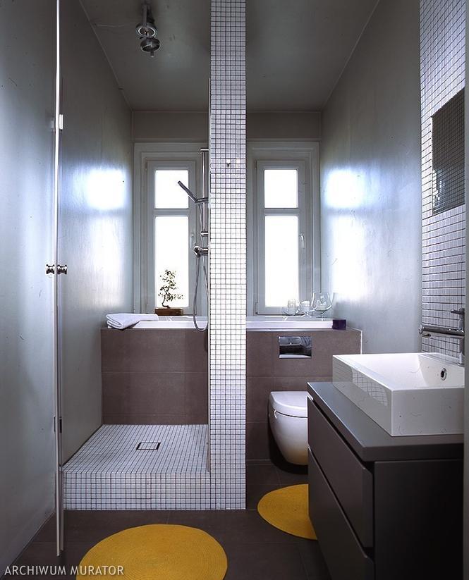 Łazienka w bieli i szarościach