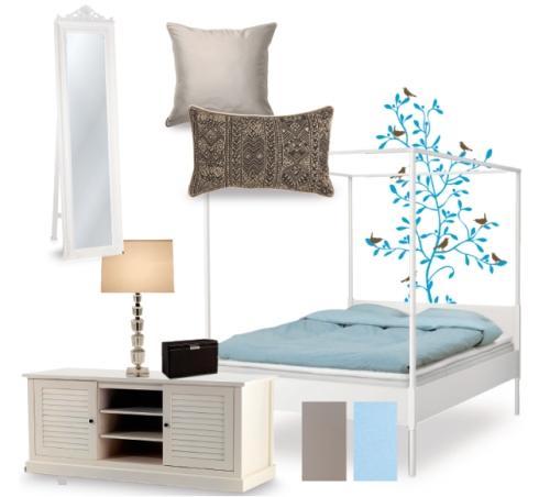 Stylowy salon i sypialnia