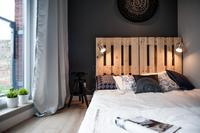 Zagłówek łóżka z palet