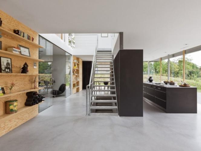 Kamień, szkło, cegła - nowoczesny dom
