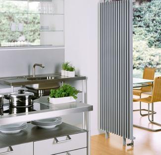 Ogrzewanie - grzejniki dekoracyjne w kuchni