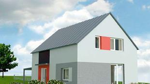 Mały dom energooszczędny, łatwy w budowie. PROJEKT DOMU JEDNORODZINNEGO
